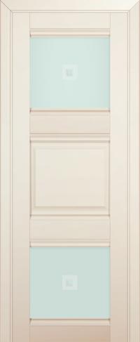 Дверь 6U, магнолия-сатинат, остекленная, матовое с узором