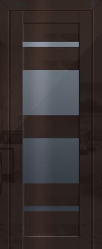 Дверь 72L, терра, графит, остекленная