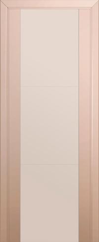 Дверь 22U, капучино сатинат, остекленная, перламутровый лак