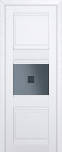Дверь 5U, аляска, остекленная, графит №2 с узором