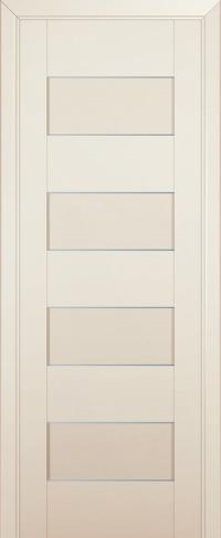 Дверь 45U, магнолия-сатинат, частично остекленная