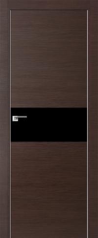 Дверь 4Z, венге кроскут, черный лак - Экошпон