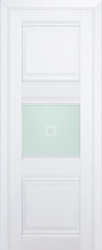 Дверь 5U, аляска, остекленная, матовое с узором