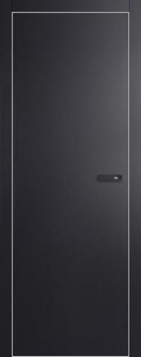 Дверь 1VG черный матовый - высокий глянец