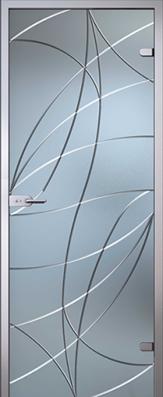 Дверь Аврора, стекло матовое