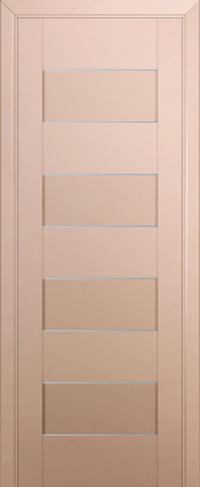Дверь 45U, капучино-сатинат, частично остекленная