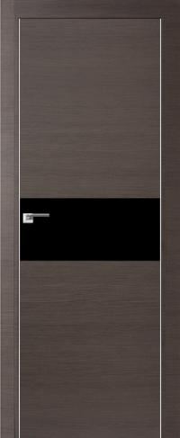 Дверь 4Z, грей кроскут, черный лак - Экошпон