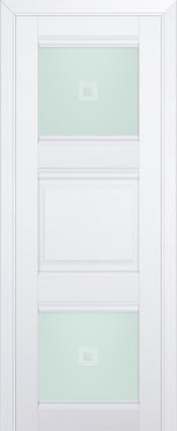 Дверь 6U, аляска, остекленная, матовое с узором