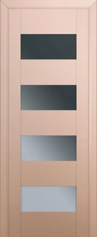 Дверь 46U, капучино-сатинат, остекленная, графит