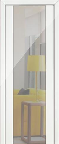 Дверь 8L, белый люкс, зеркальный триплекс