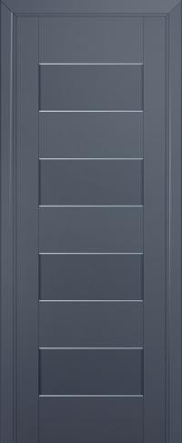 Дверь 45U, антрацит, частично остекленная