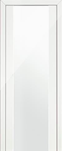 Дверь 8L, белый люкс, остекленная