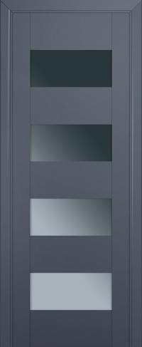 Дверь 46U, антрацит, остекленная, графит