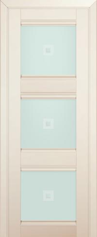 Дверь 4U, магнолия-сатинат, остекленная, матовое с узором