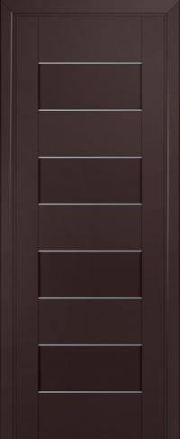 Дверь 45U, темно-коричневый, частично остекленная