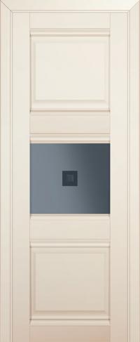 Дверь 5U, магнолия-сатинат, остекленная, графит №2 с узором