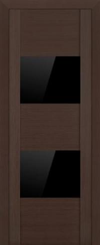 Дверь 21X, венге мелинга, черный глянцевый лак - Экошпон
