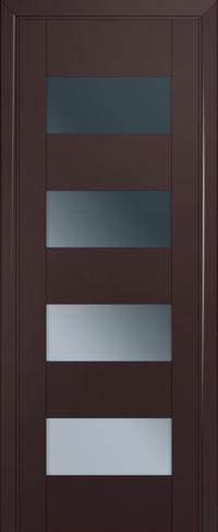 Дверь 46U, темно-коричневый, остекленная, графит