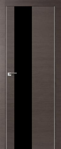 Дверь 5Z, грей кроскут, черный лак - Экошпон