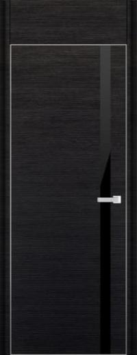 Дверь 6D, черный браш - НанШпон