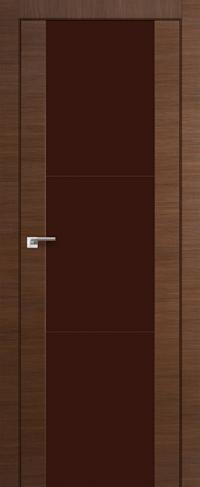 Дверь 22X, малага черри кроскут, коричневый лак - Экошпон