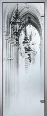 Дверь Аркада, стекло матовое