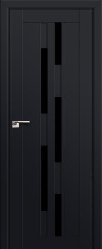 Дверь 30U, черный матовый, остекленная, черный триплекс