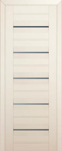 Дверь 48U, магнолия-сатинат, частично остекленная, графит