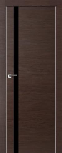 Дверь 6Z, венге кроскут, черный лак - Экошпон