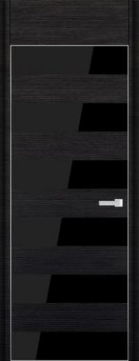 Дверь 8D, черный браш - НанШпон