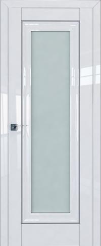 Дверь 24L, белый люкс, остекленная