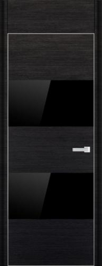 Дверь 10D, черный браш - НанШпон