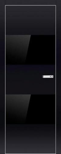 Дверь 2VG черный глянец - высокий глянец