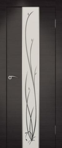 Дверь Гранд, венге, белое стекло - Экошпон