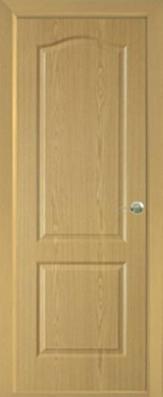Дверь Классика ДГ, светлый дуб - МДФ