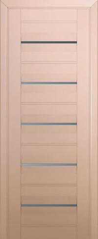 Дверь 48U, капучино-сатинат, частично остекленная, графит