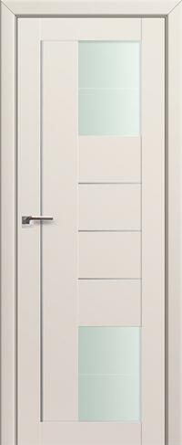 Дверь 43U, магнолия сатинат, остекленная, мателюкс