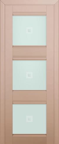 Дверь 4U, капучино-сатинат, остекленная, матовое с узором
