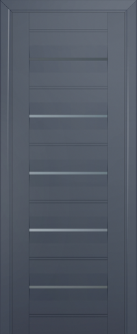 Дверь 48U, антрацит, частично остекленная, графит