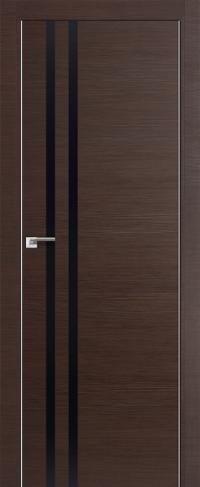 Дверь 19Z, венге, черный глянец - Экошпон