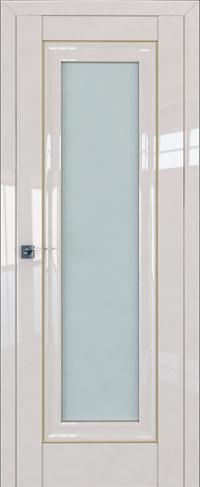 Дверь 24L, магнолия люкс, остекленная