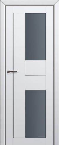 Дверь 44U, аляска, остекленная, графит