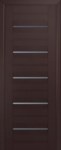 Дверь 48U, темно-коричневый, частично остекленная, графит