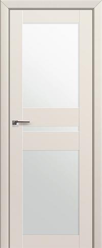 Дверь 70U, магнолия сатинат, остекленная