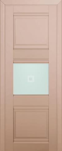 Дверь 5U, капучино-сатинат, остекленная, матовое с узором