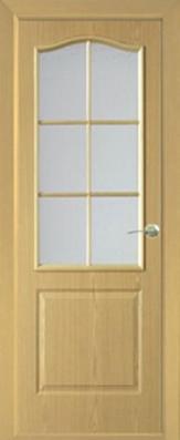 Дверь Классика ДО, светлый дуб - МДФ