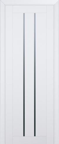 Дверь 49U, аляска, частично остекленная, графит