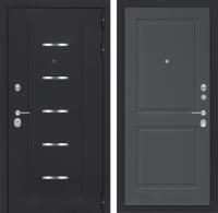 Входная дверь Альфа 11 - Графит софт