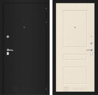 Входная дверь CLASSIC шагрень черная 03 - Крем софт