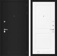 Входная дверь CLASSIC шагрень черная 11 - Белый софт